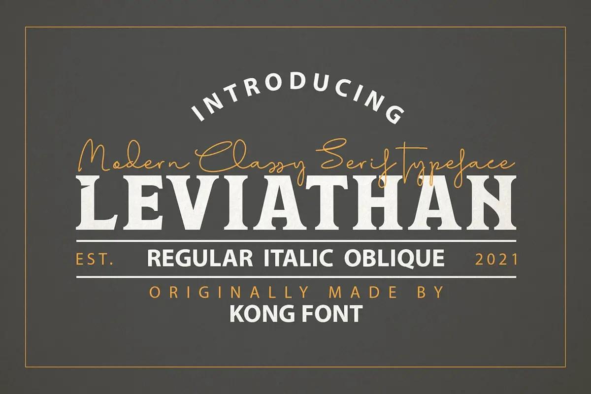Leviathan Display Font -1