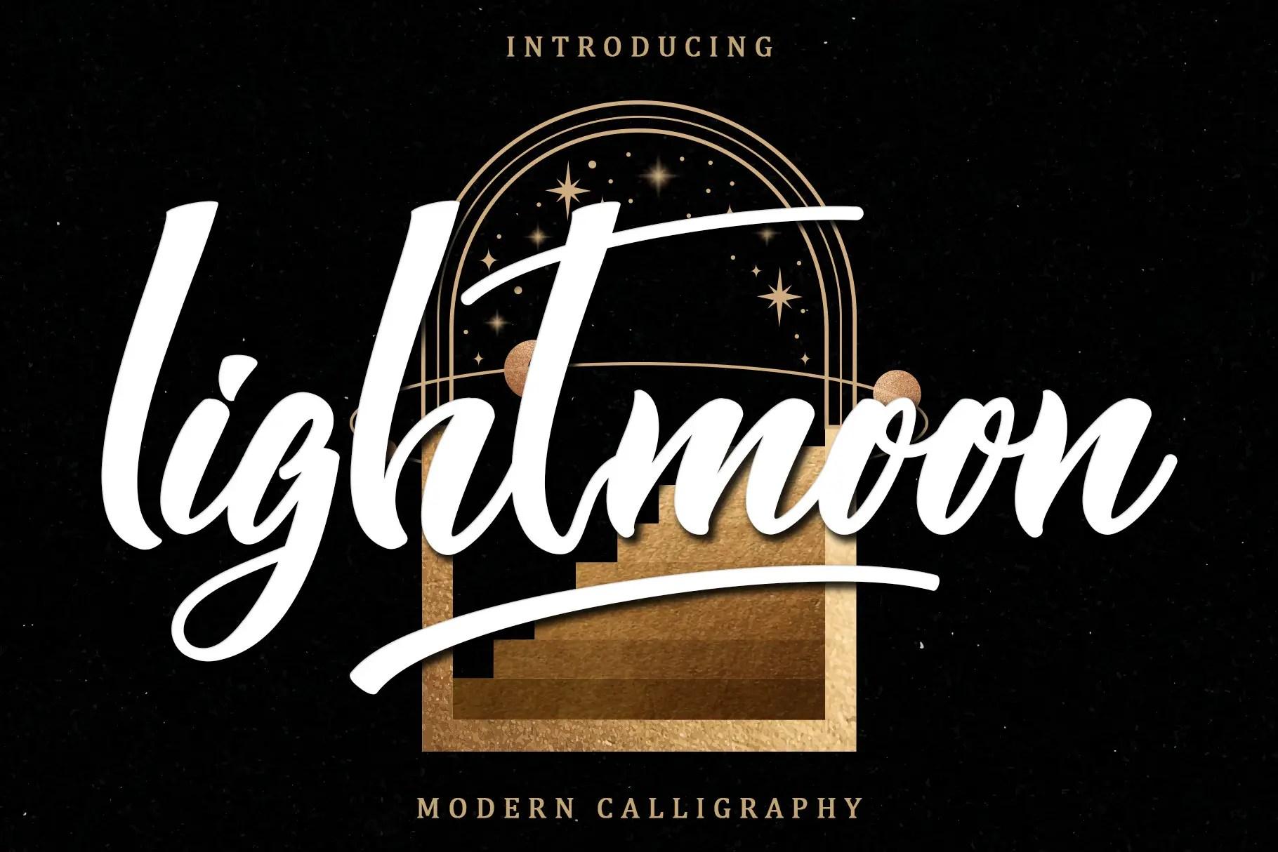 Lightmoon Modern calligraphy Font -1
