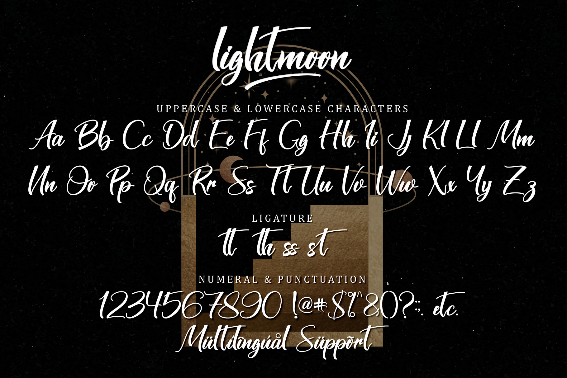 Lightmoon Modern calligraphy Font -3
