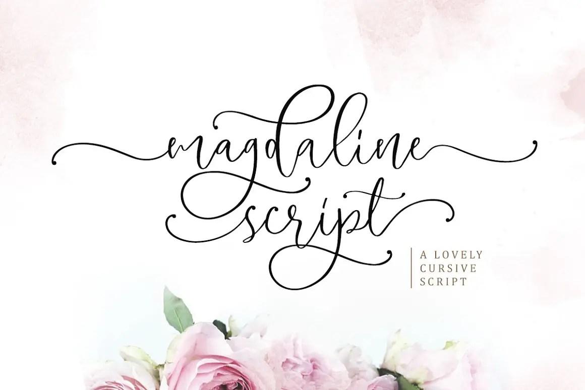 Magdaline Lovely Calligraphy Font -1