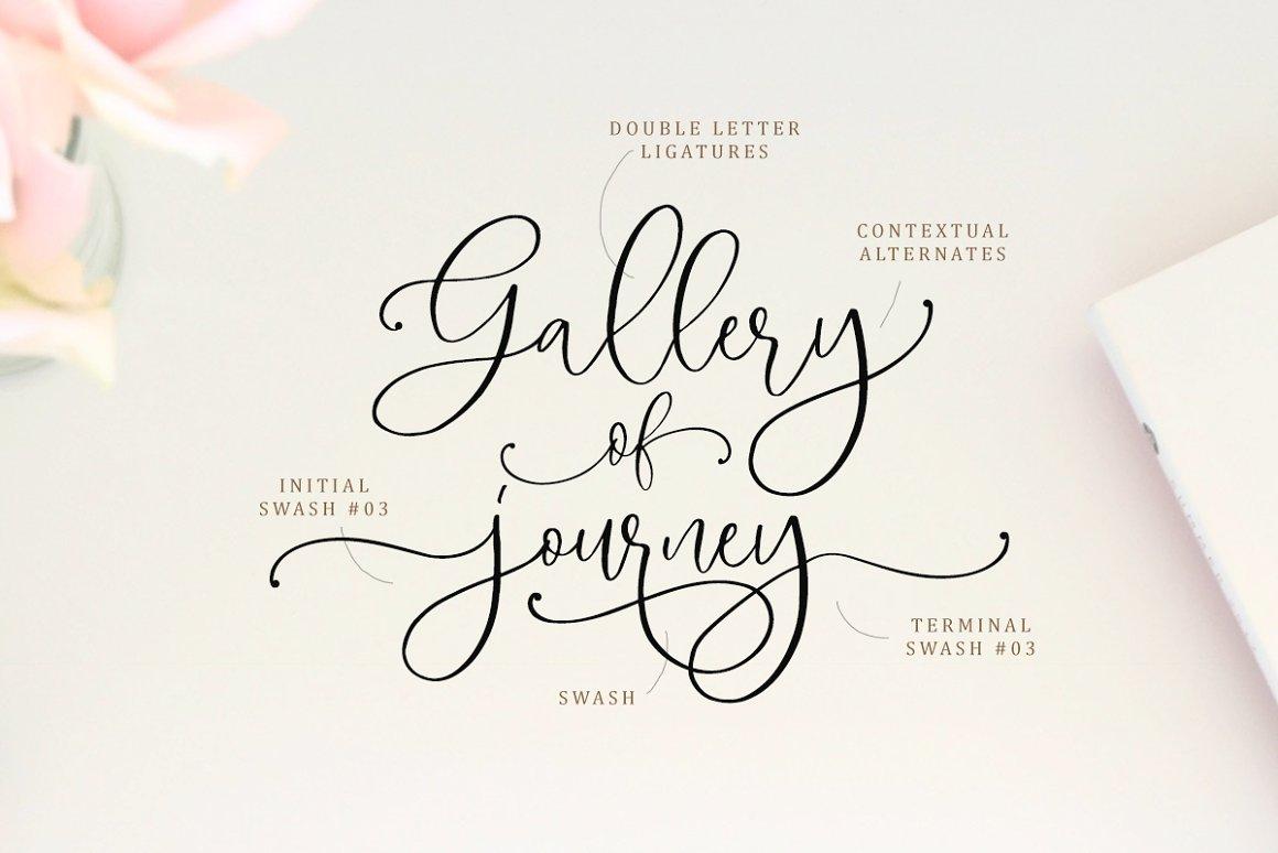 Magdaline Lovely Calligraphy Font -2