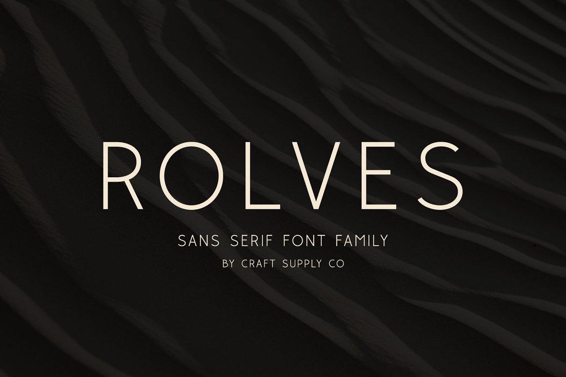 Rolves Sans Serif Font Family -1