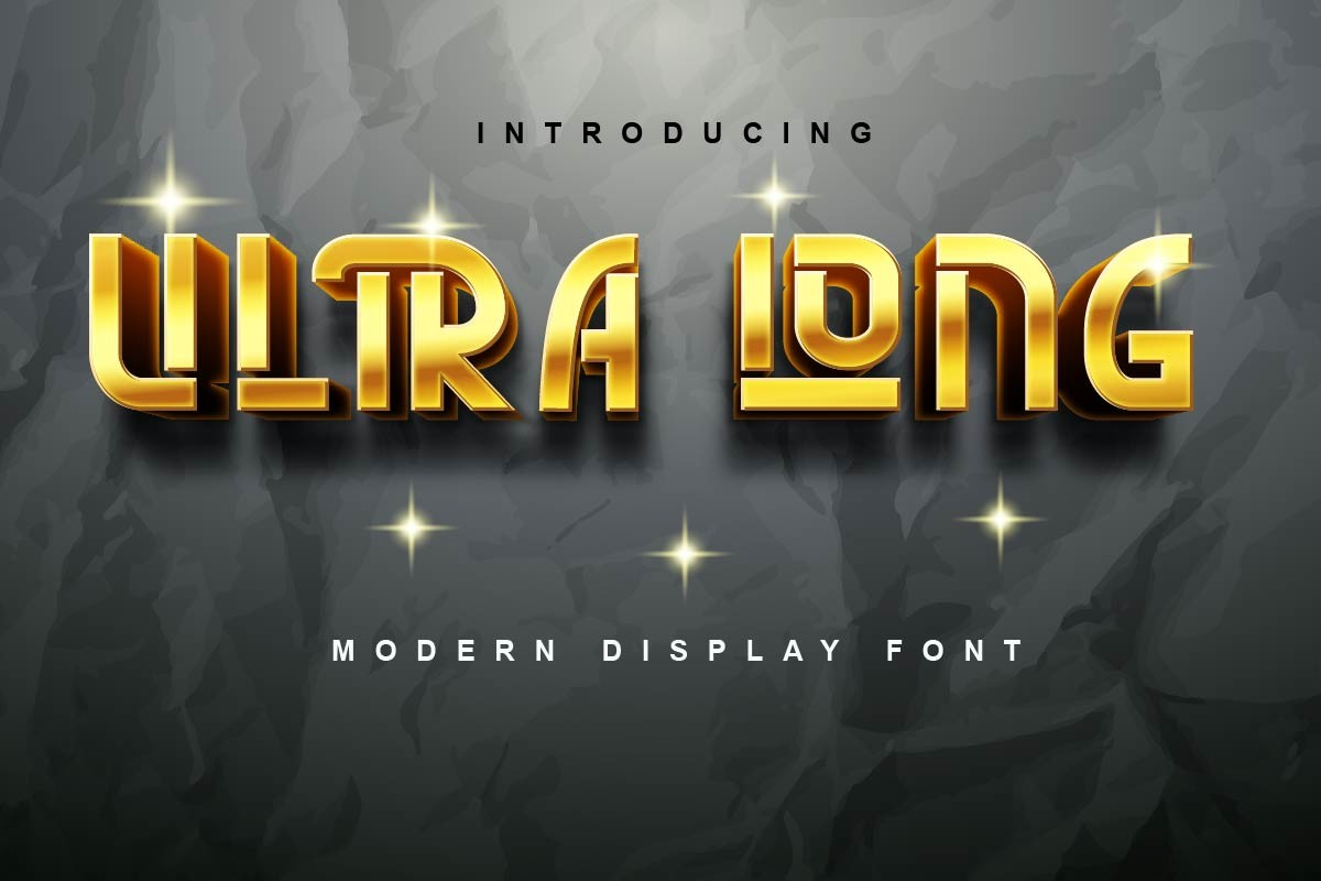 Ultra Long Display Font -1