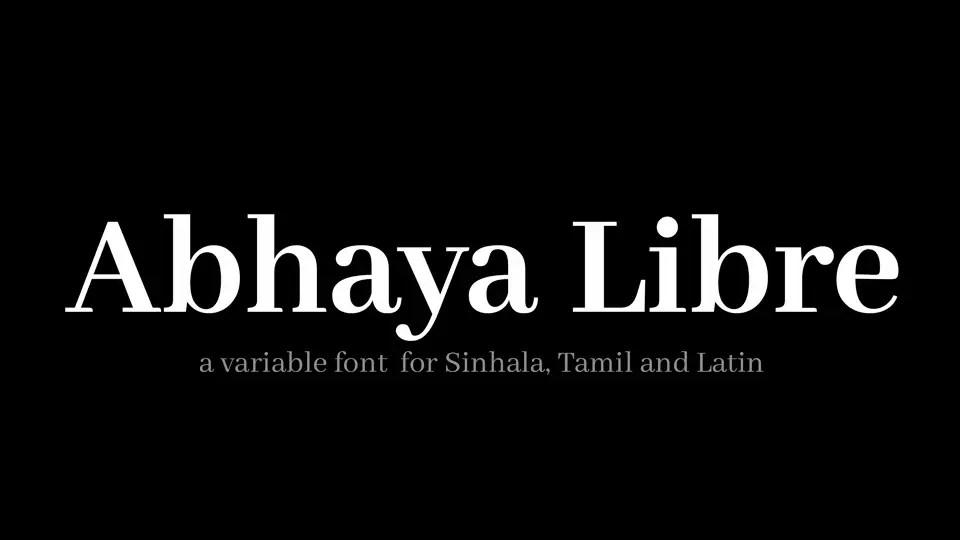 Abhaya Libre Serif Font -1