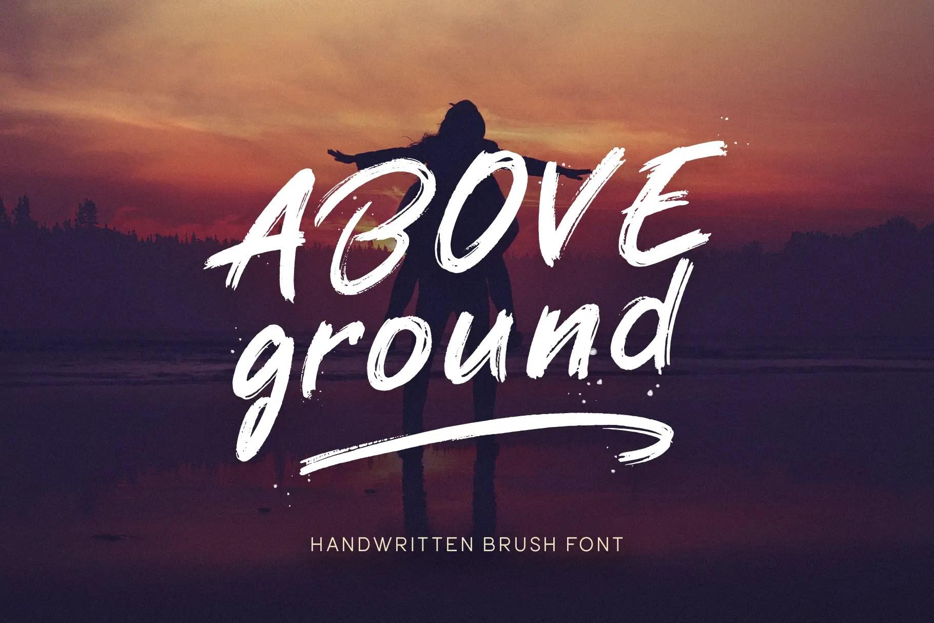Above Ground Brush Font -1