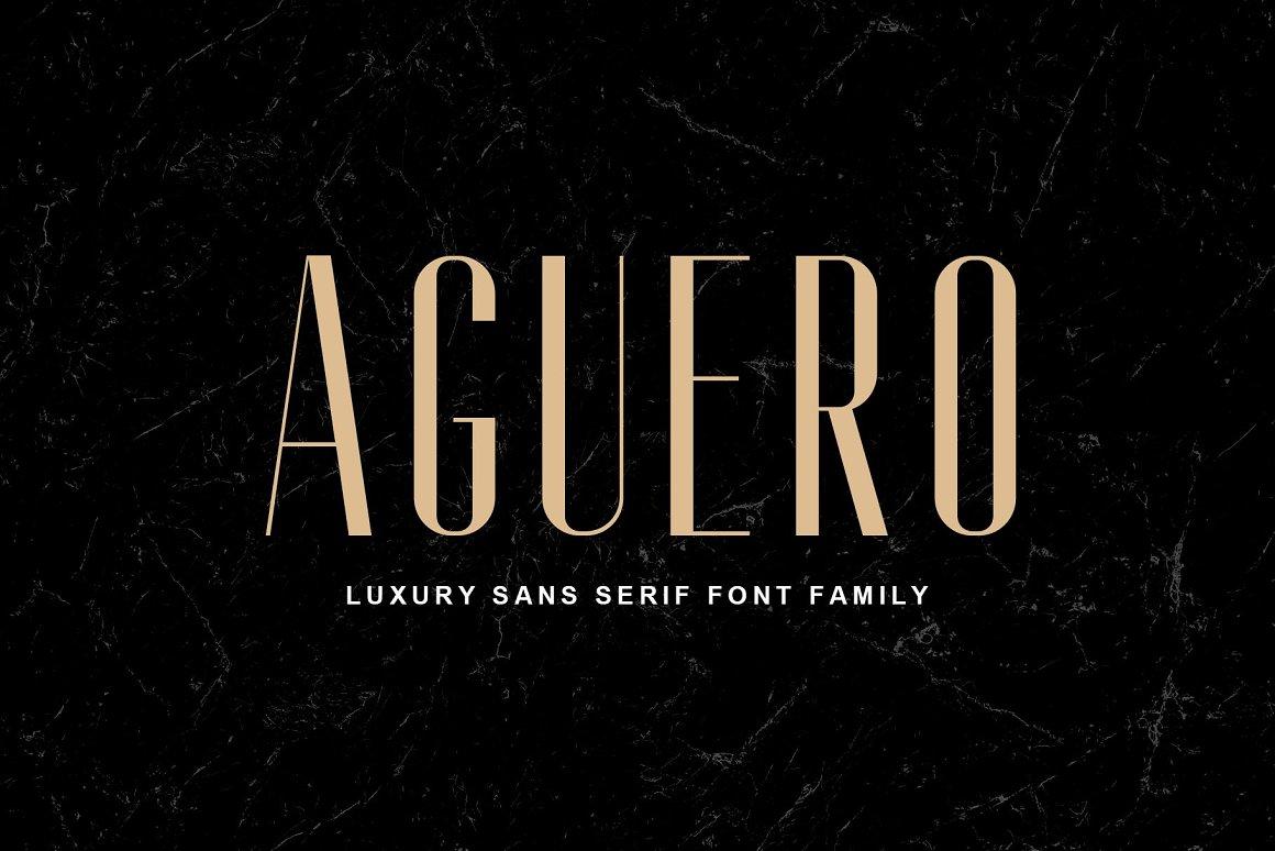 AgueroSans Serif Font Family -1