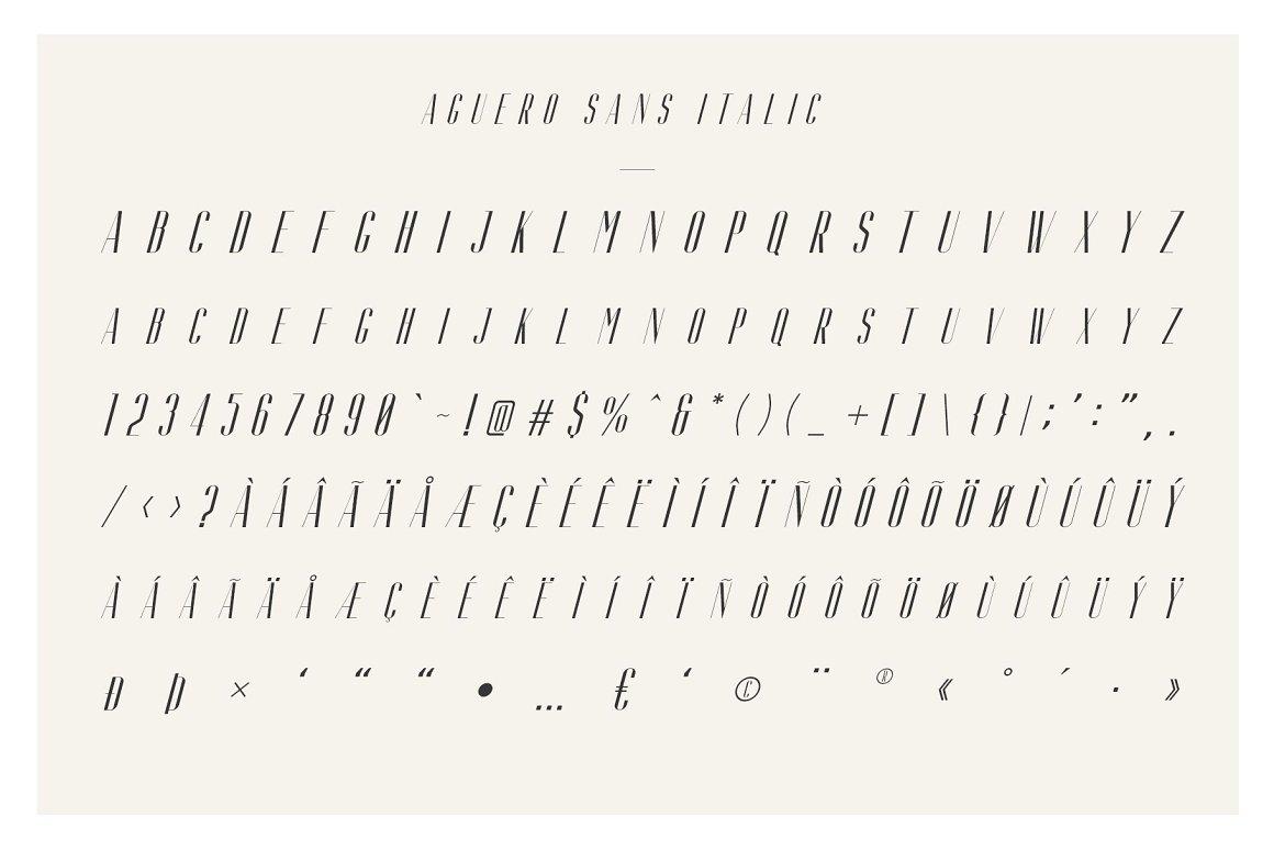 AgueroSans Serif Font Family -3