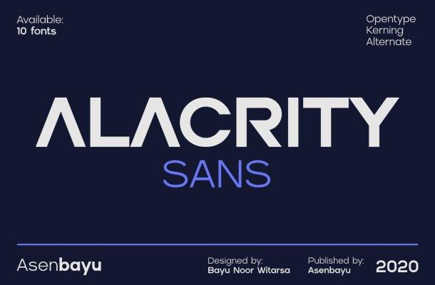 Alacrity Sans Font Family