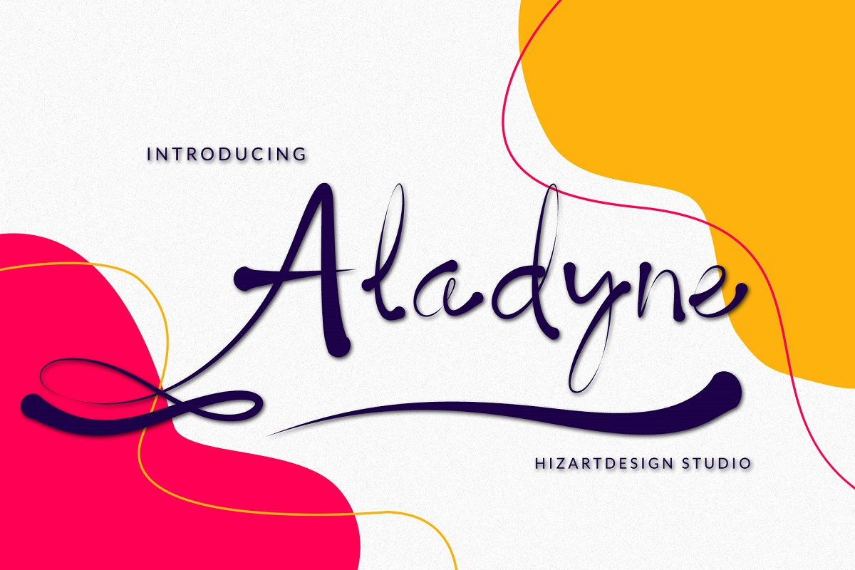 Aladyne Modern Script Font -1