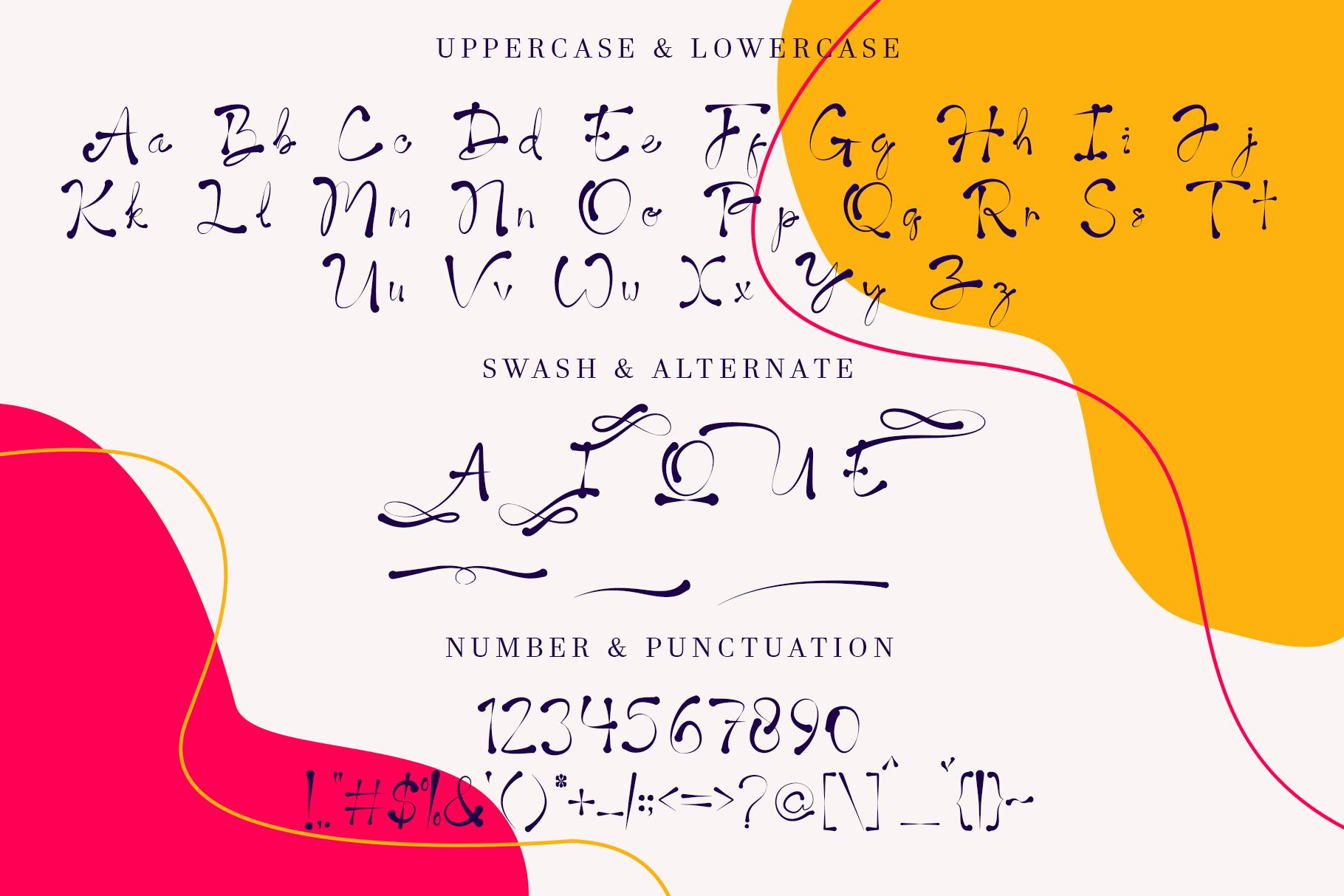 Aladyne Modern Script Font -3