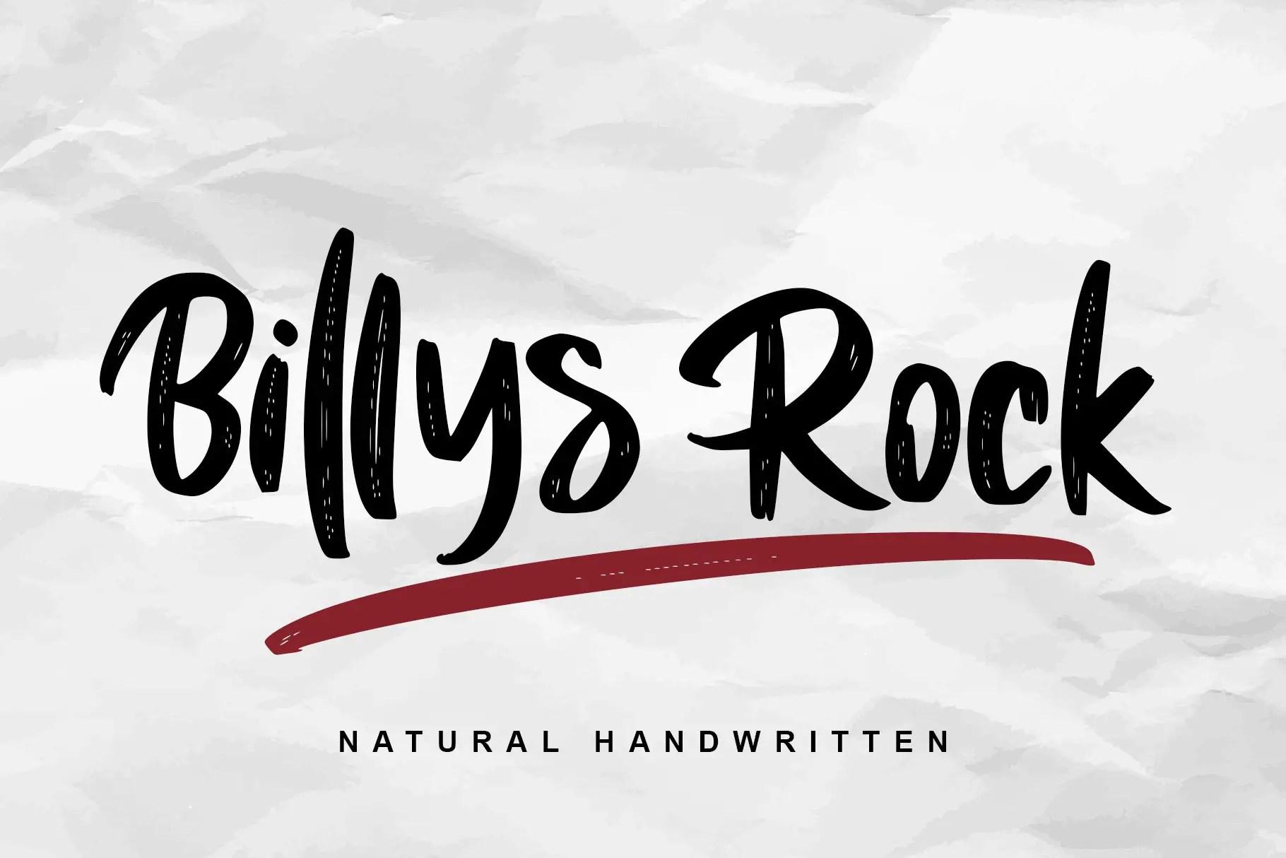Billys Rock Brush ScriptFont -1