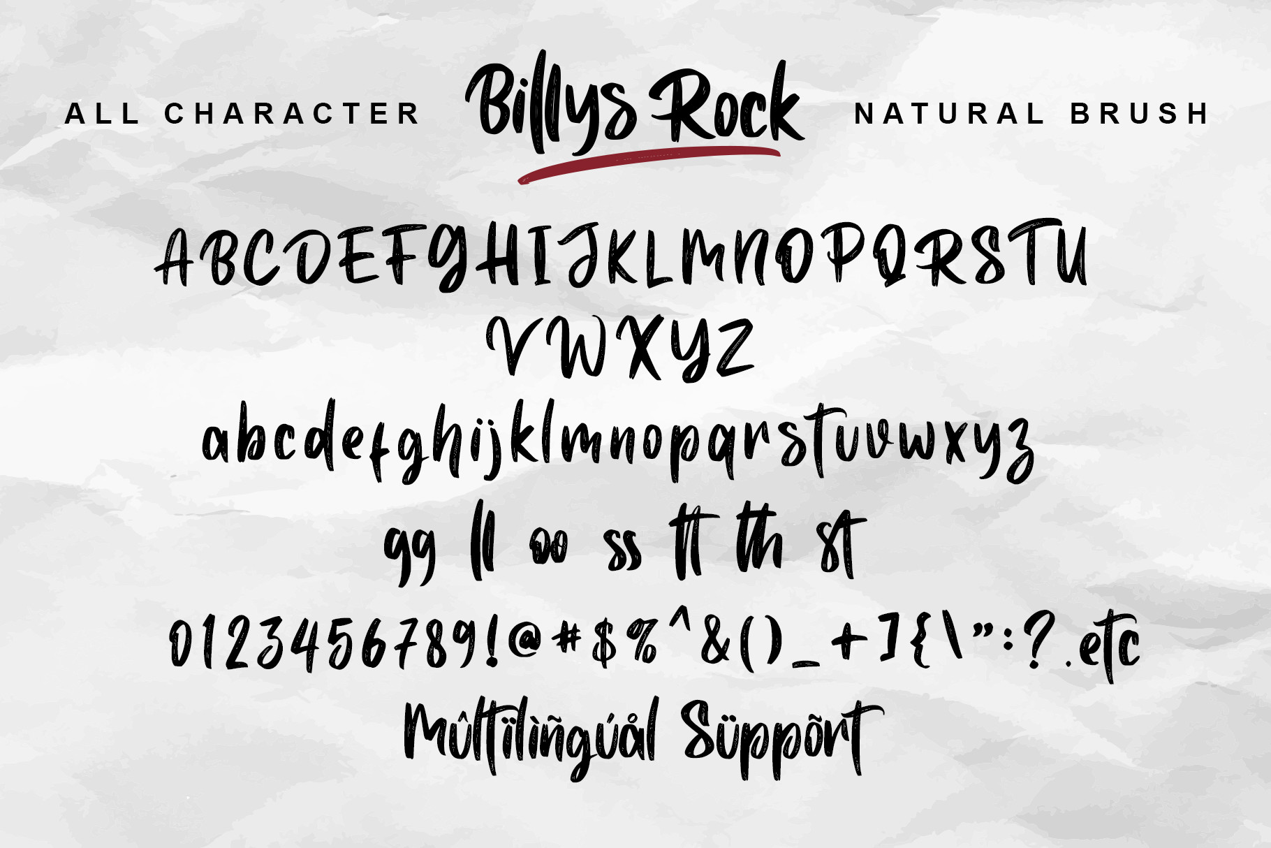 Billys Rock Brush Sc3iptFont -1