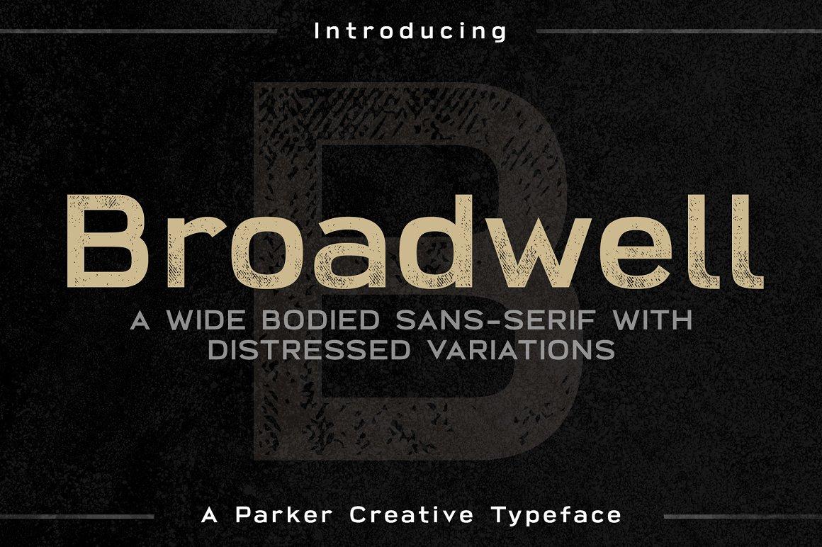 Broadwell Distressed SansFont -
