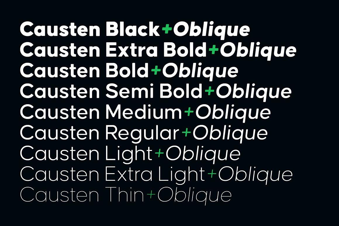 Causten Round Sans Serif Font -2