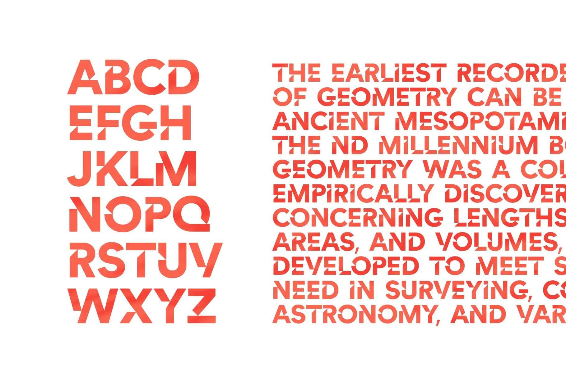 Cut Angles Display Font -3