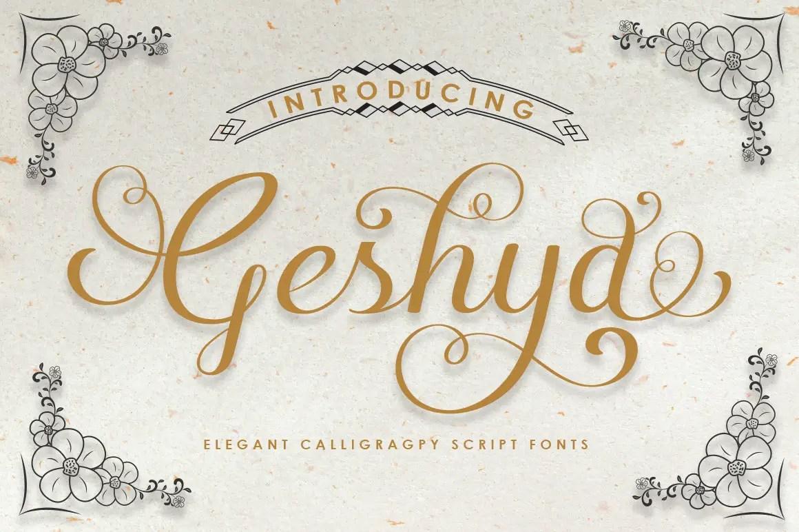 Geshya Elegant Calligraphy Font -1