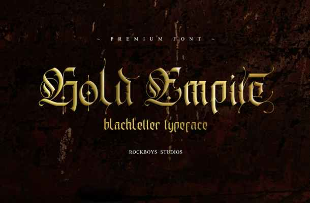 Gold Empire Font