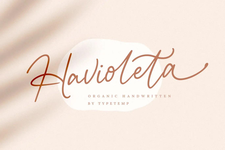 Havioleta Organic Handwritten Font -1