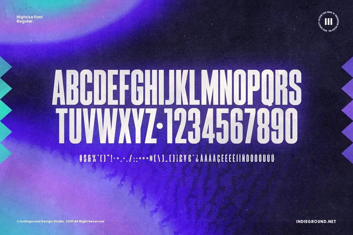 Highrise Display Font -3