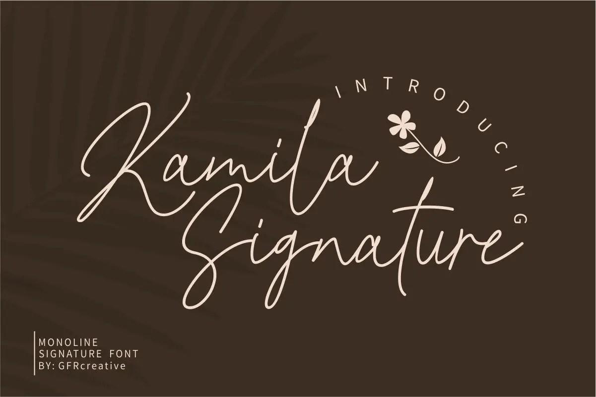 Kamila Signature Script Font -1