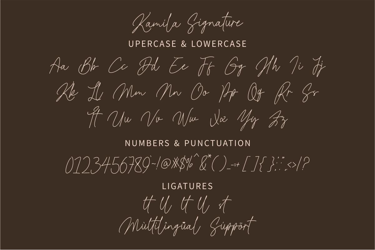 Kamila Signature Script Font -3