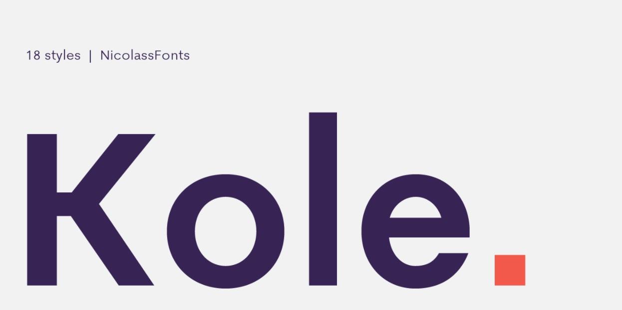 Kole Sans Serif Font -1