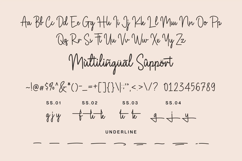 Magnolia Sparkling Handwritten Font -3