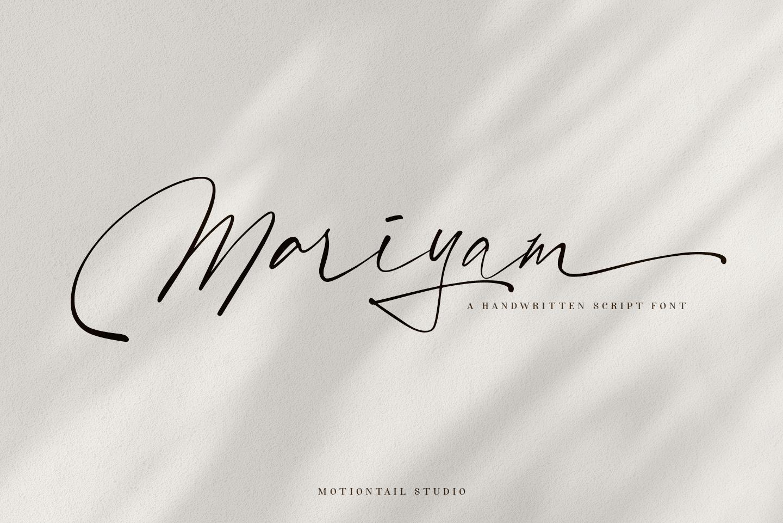 MariyamModern Script Font -1