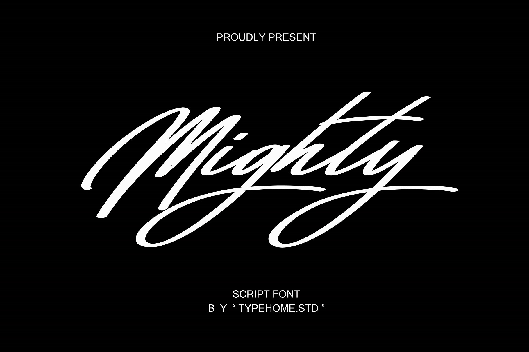 Mighty Script Handwritten Font -1