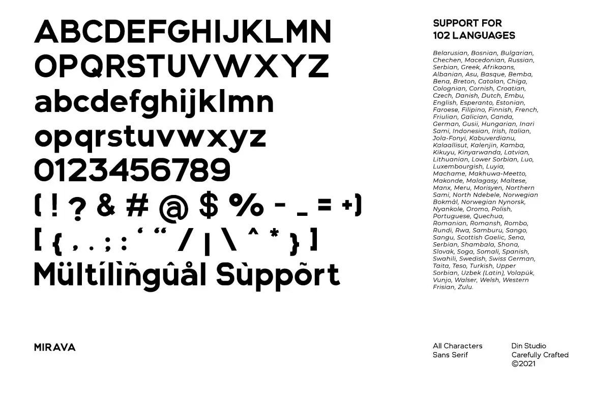 Mirava Sans Serif Font -3