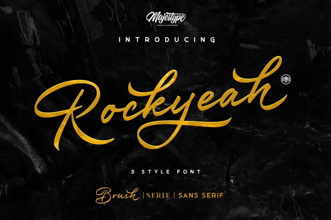 Rockyeah 3 Style Font -1