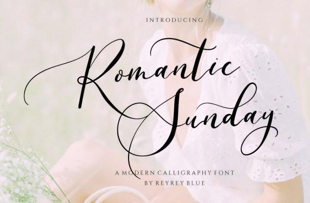 Romantic Sunday Font