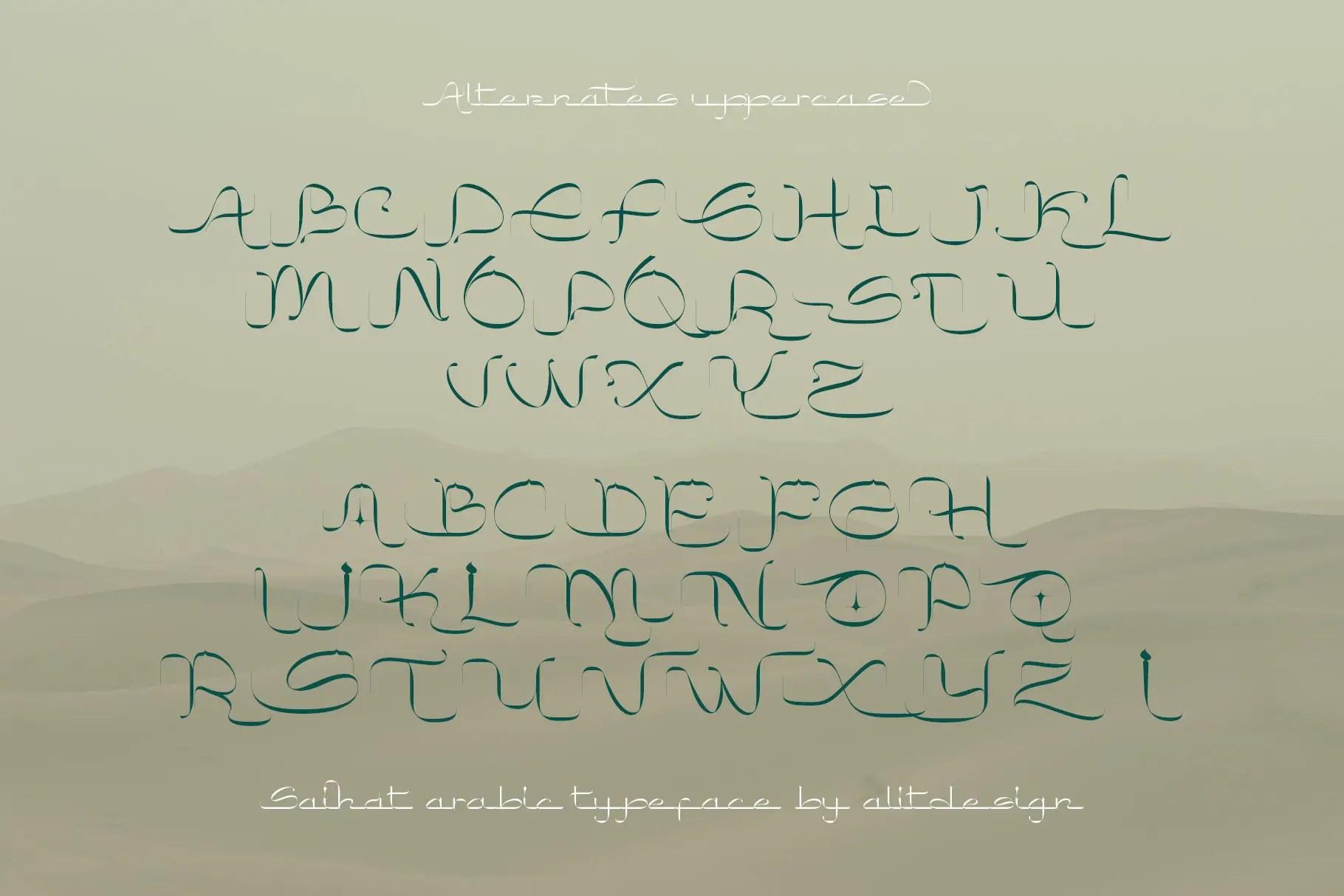 Saihat Arabic Font -2