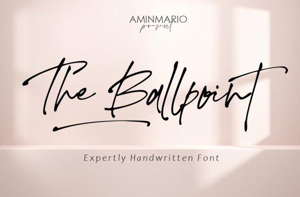 The Ballpoint Font