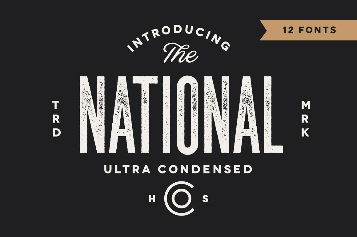 The National Condensed Font Family -1