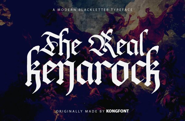 The Real Kenarock Font