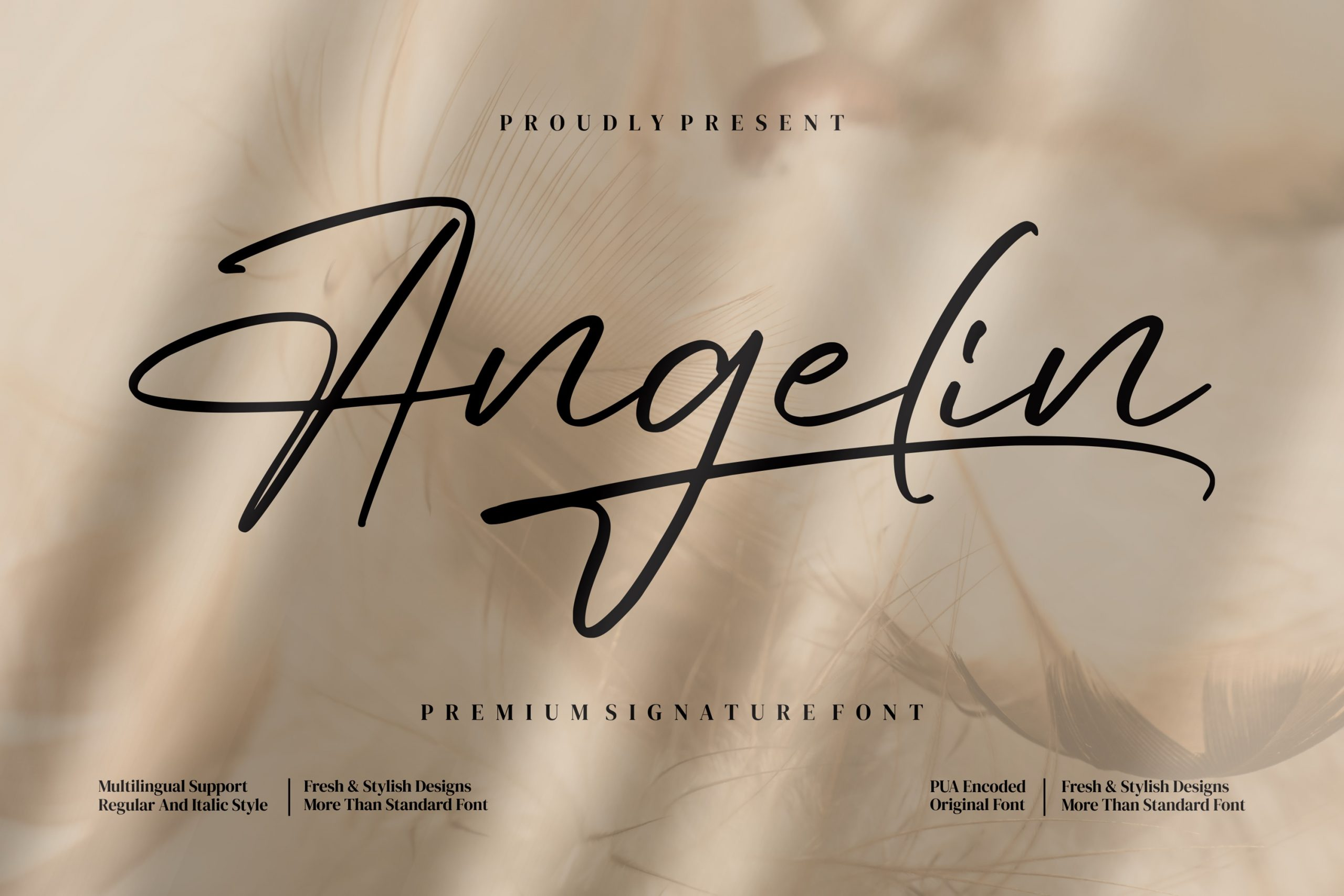 AngelinScript Calligraphy Font -1