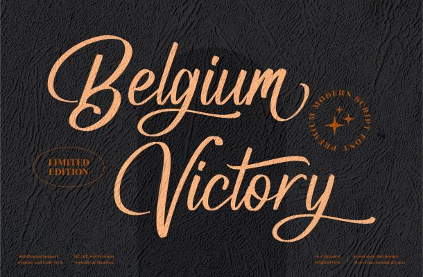 Belgium Victory Font