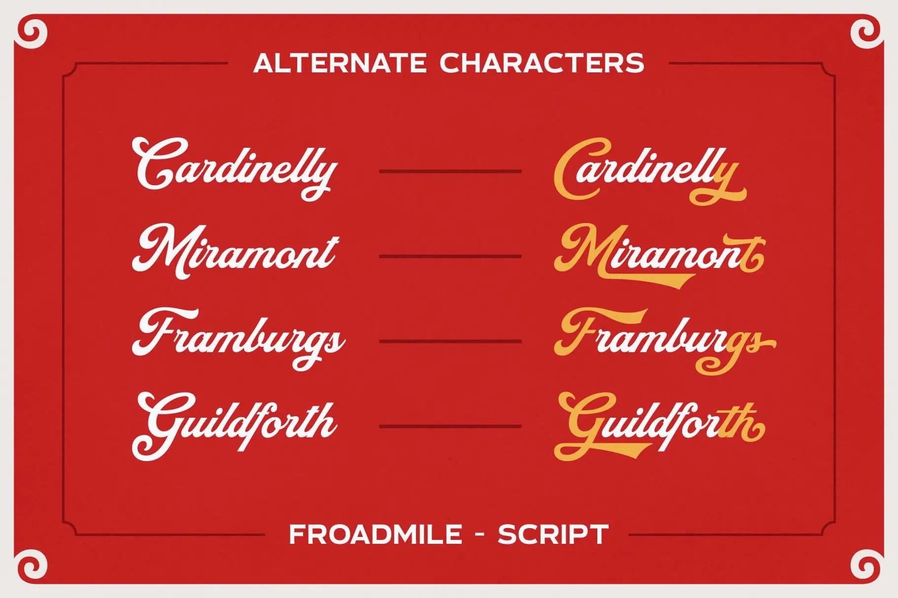 Froadmile Script Font -3