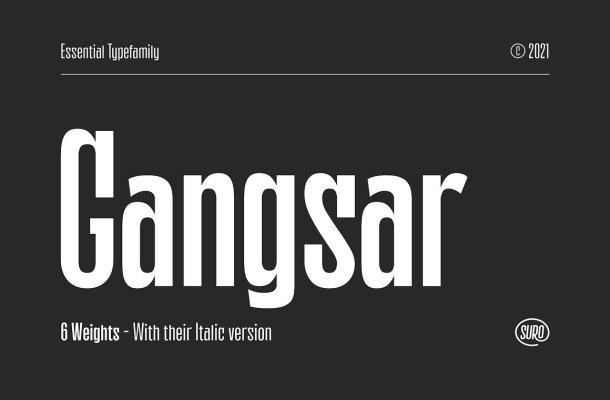Gangsar Font