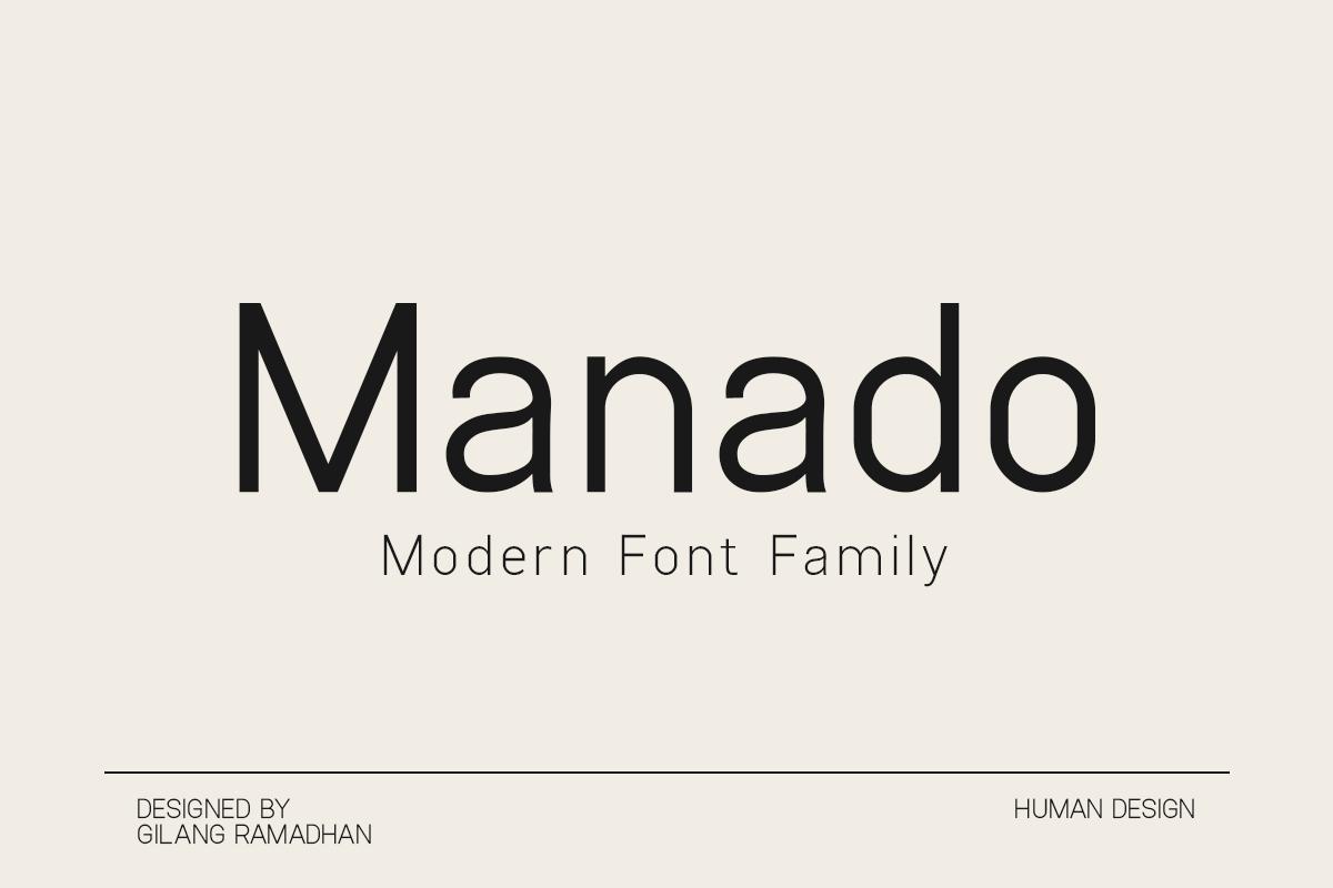 Manado Modern Sans Font Family -1