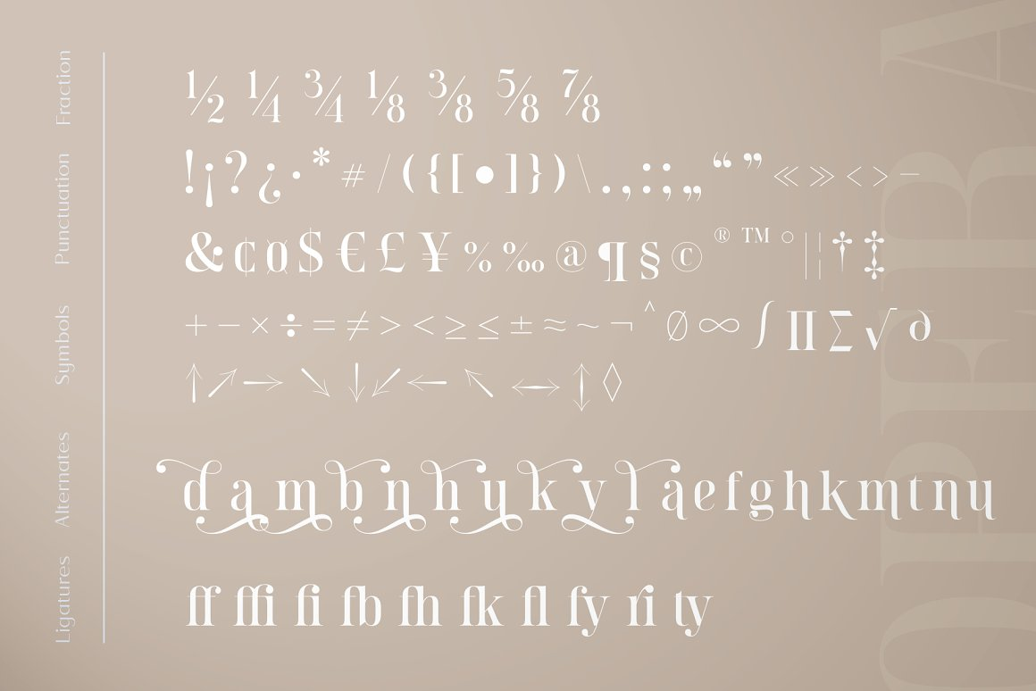Opera Signature Font Duo -3