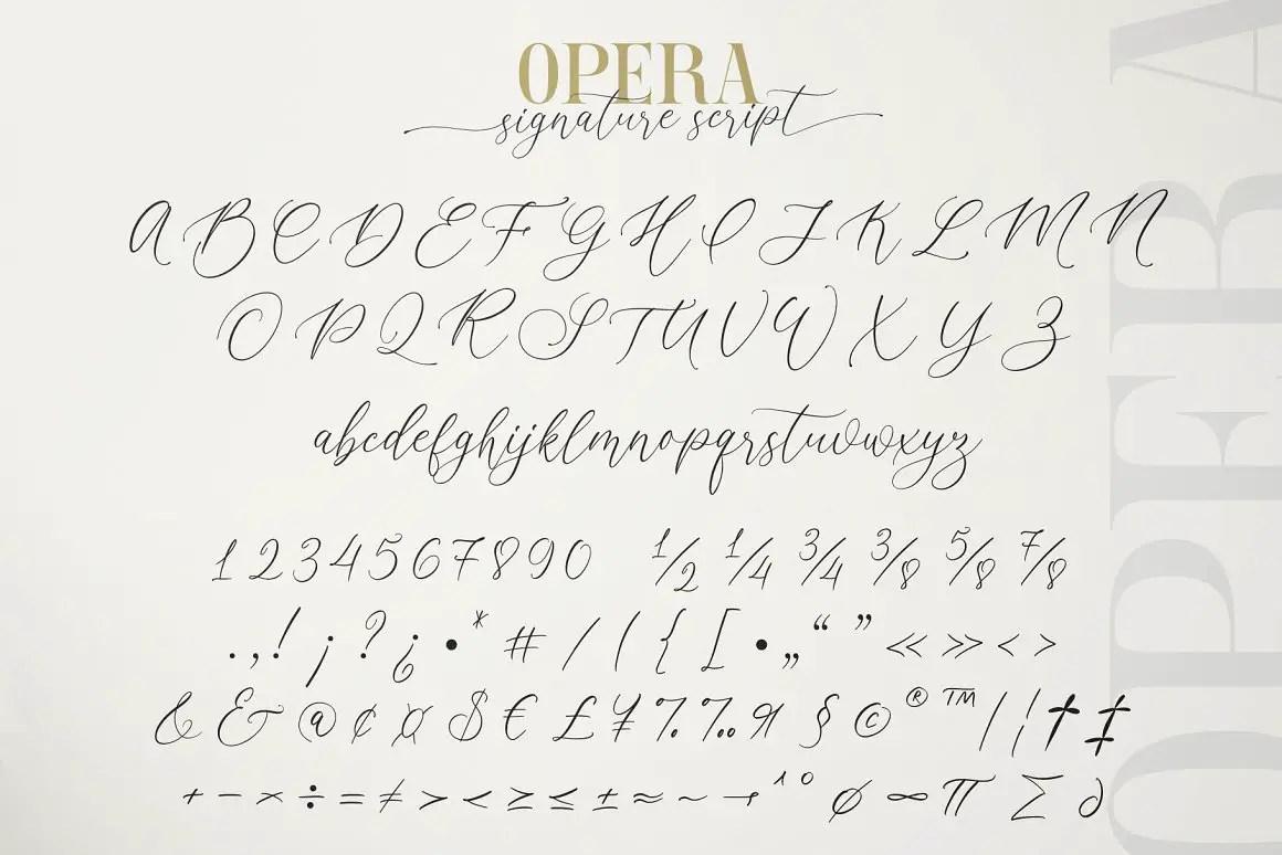 Opera Signature Font Duo -4