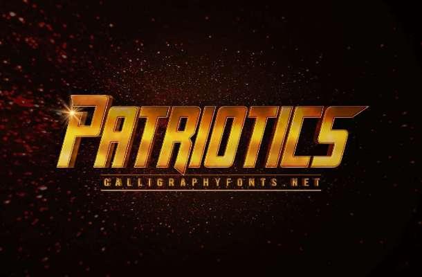 Patriotics Font