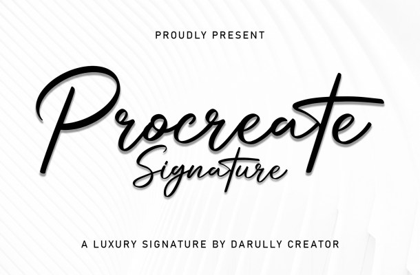 Procreate Signature Font