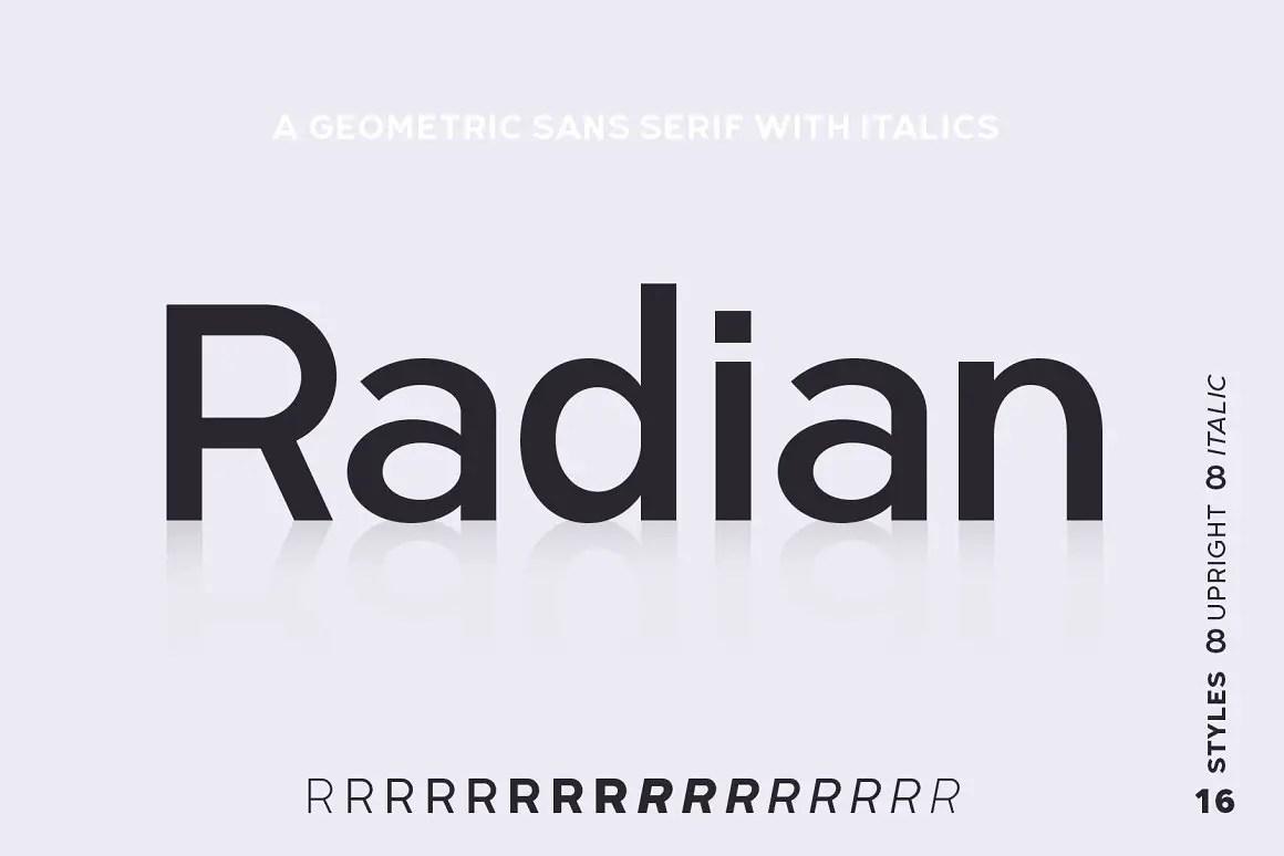 Radian Geometric Sans Font -1