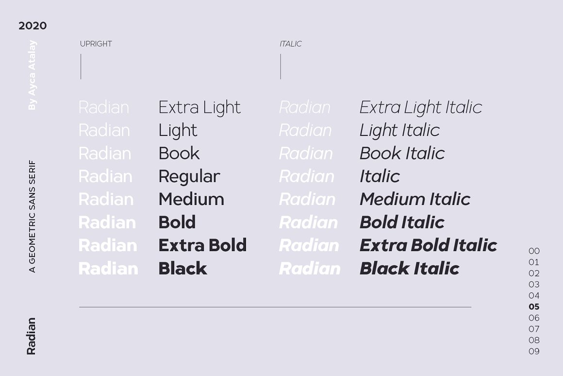 Radian Geometric Sans Font -2