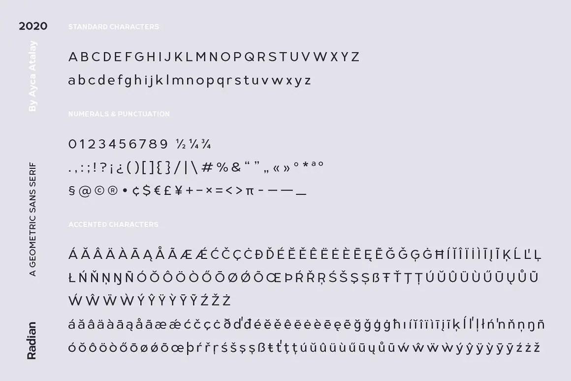 Radian Geometric Sans Font -3