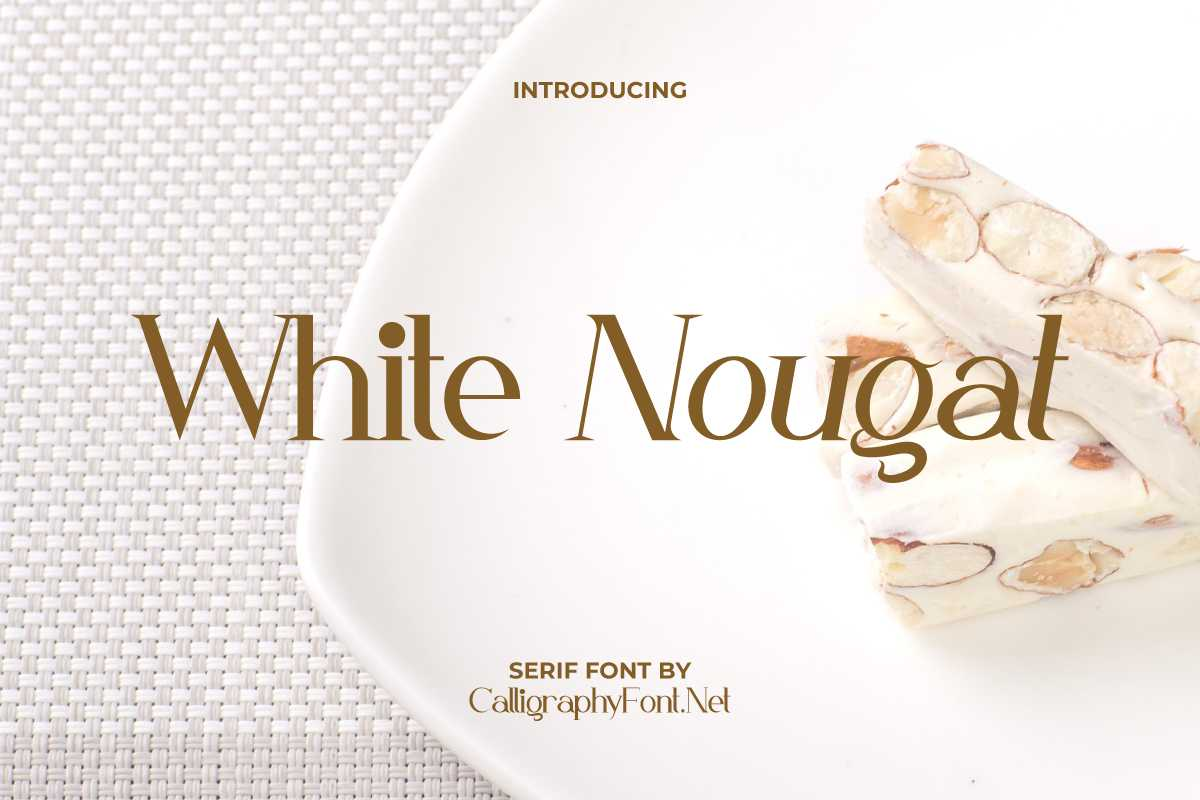 White Nougat Serif Font -1