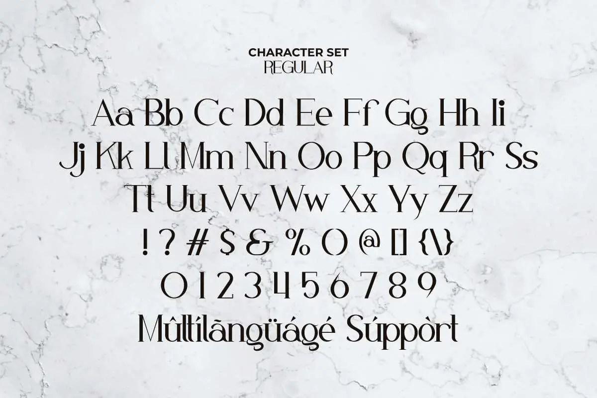 White Nougat Serif Font -2